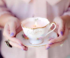 vintage, candle, and cup image