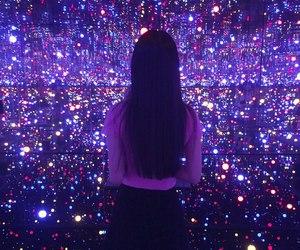 girl, purple, and light image