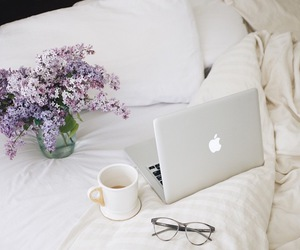 apple, coffee, and flowers image