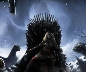 dragons, throne, and tv show image
