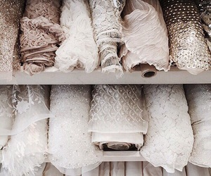 fabric, white, and lace image