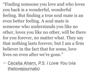 p.s. i love you, quote, and love image