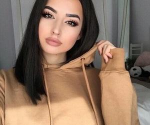 beauty, black hairs, and eyebrow image