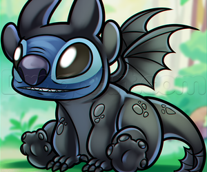 disney, stitch, and toothless image