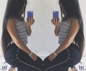 adidas, booty, and dark hair image