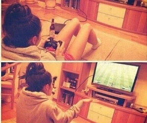 football, girls, and soccer image