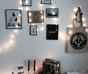 bedroom, decoration, and fairylights image