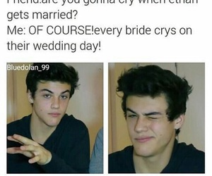 bride, ethan, and funny image