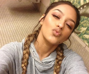 braided, makeup, and girl image