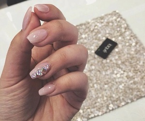 nails, Nude, and short image