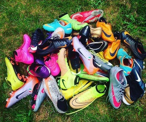football, nike, and love image