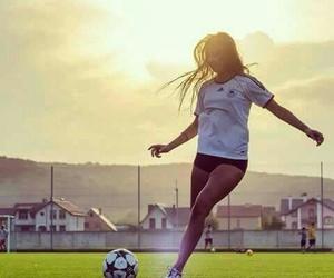 football and girl image