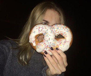 cool, donut, and drunk image