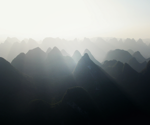 light and mountains image