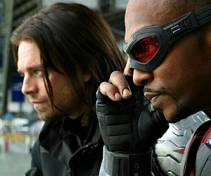 falcon, bucky barnes, and sam wilson image