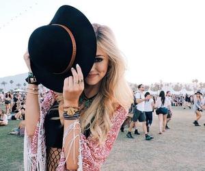 girl, coachella, and hat image