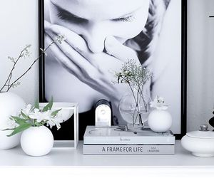 art, black and white, and decor image