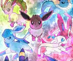 pokemon, eevee, and evolution image