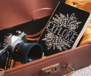book, camera, and photography image