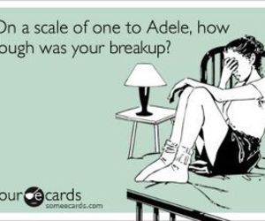 Adele, funny, and breakup image