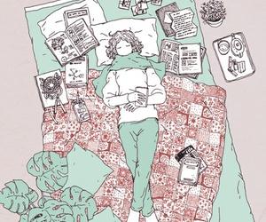 aesthetic, illustration, and sleeping image