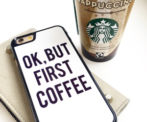 coffee, iphone, and iphone case image