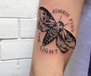 light, quote, and tattoo image