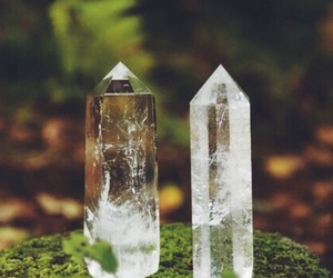 crystal, nature, and green image