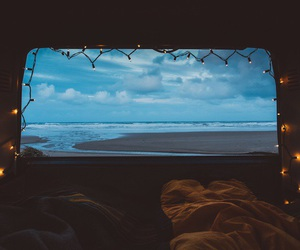 beach, sea, and light image