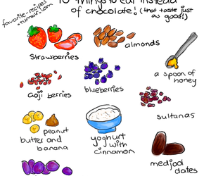 healthy, food, and chocolate image