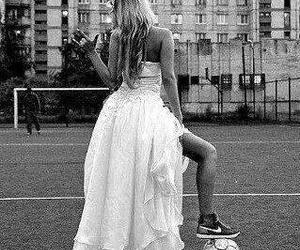football, girl, and nike image