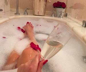champagne, bath, and luxury image