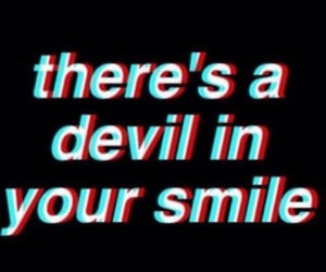 quote, smile, and Devil image