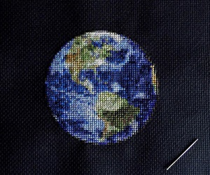 earth and black image