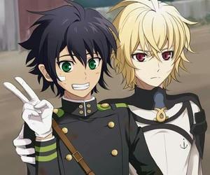 anime, owari no seraph, and mikayuu image