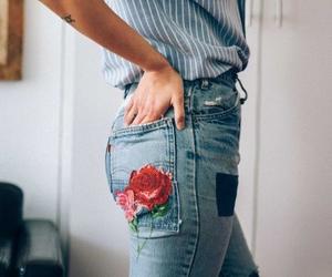 cool, rose, and tatoo image