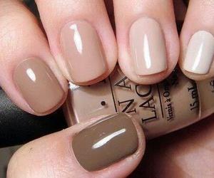 nails, brown, and nail art image
