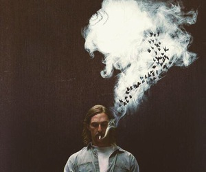true detective, matthew mcconaughey, and smoke image