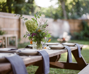 dining, garden party, and table image