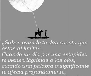 frases, texto, and moon image