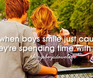 boy, smile, and love image