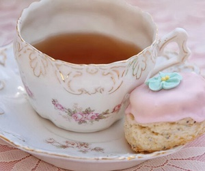 pale, pink, and tea image