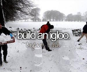 igloo, snow, and winter image