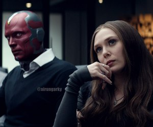 vision, scarlet witch, and captain america image