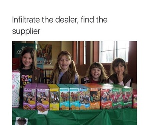 funny, girl scout cookies, and girl scouts image