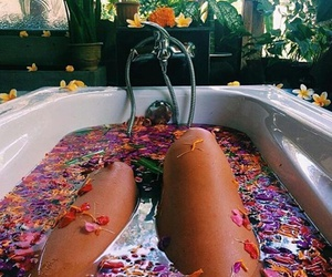 flowers, bath, and summer image
