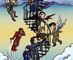 Avengers, cielo, and dean winchester image