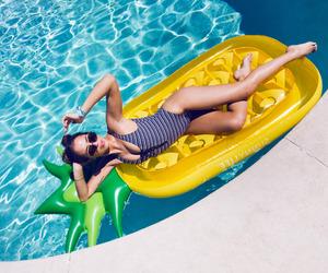 girl, pool, and kenza zouiten image