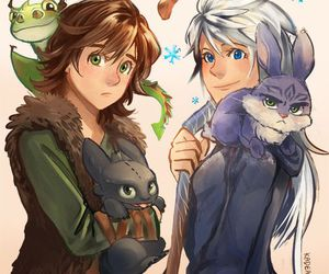 easter bunny, toothless, and hiccup image