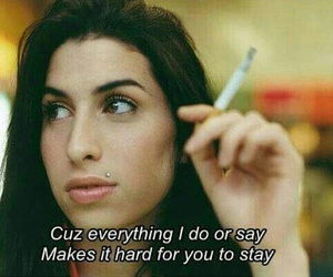 Amy Winehouse, quotes, and stay image